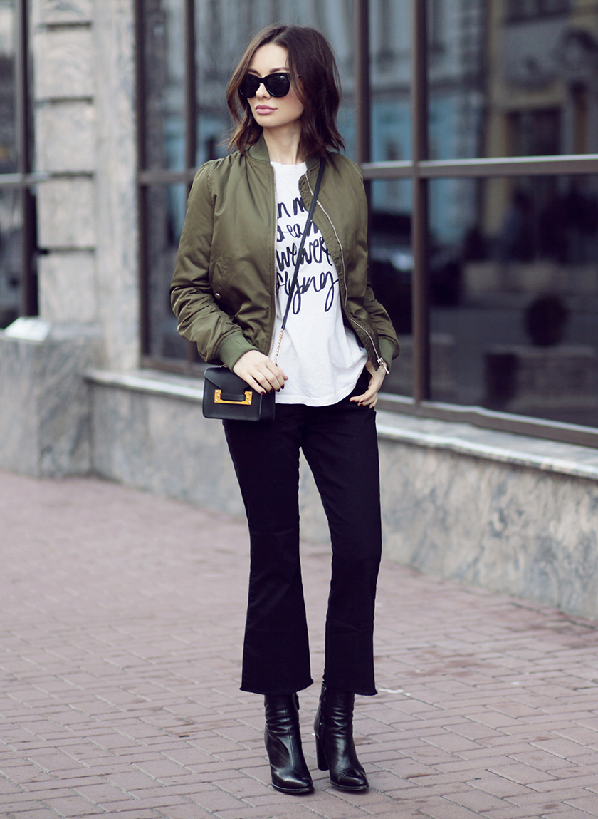Image result for street style cropped flare jeans