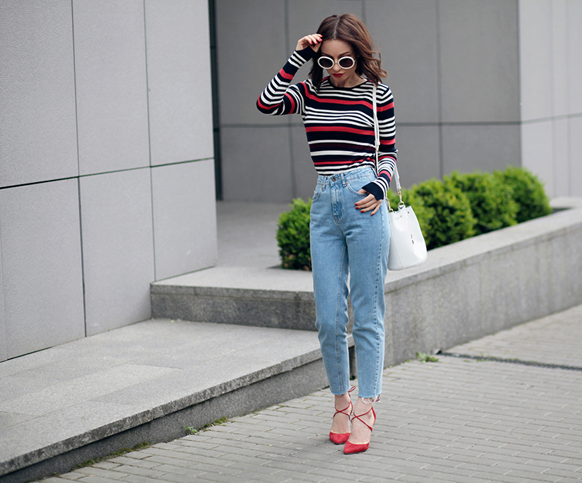 Sonya-Karamazova-moms-jeans-bold-stripes-top