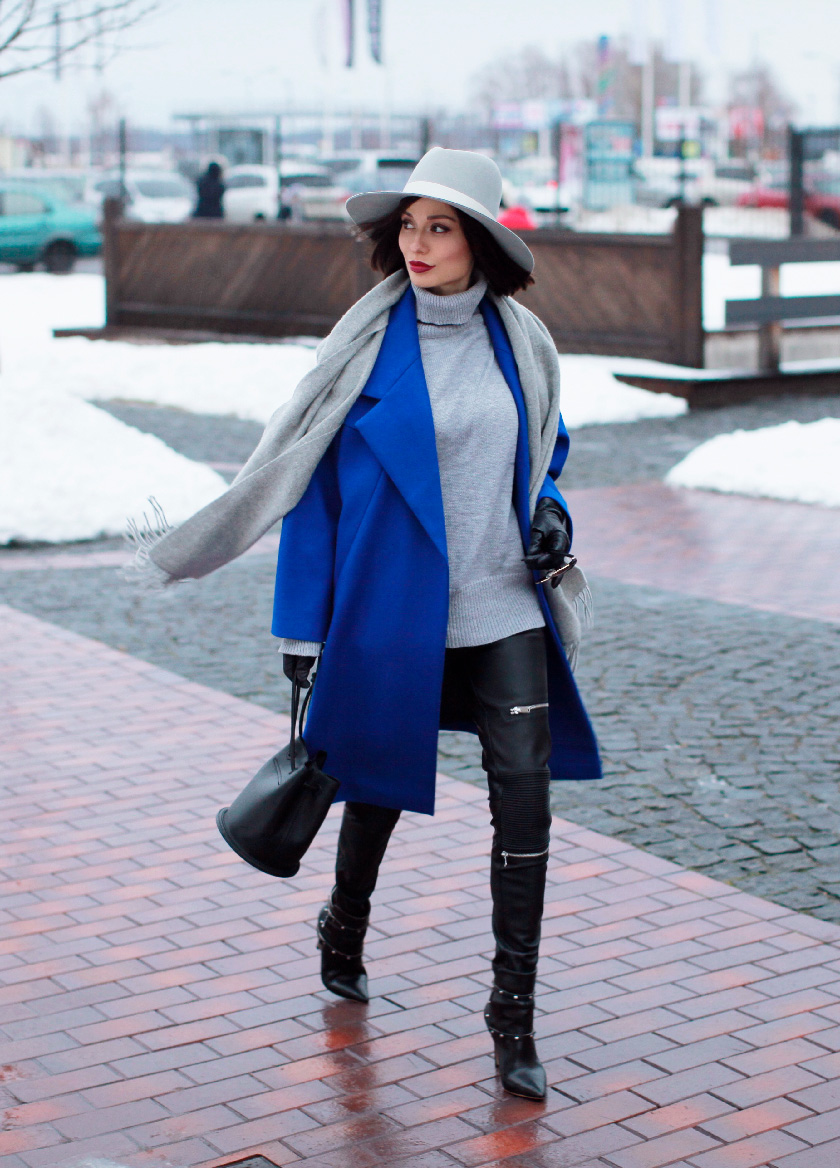 Sonya-Karamazova-winter-outfit-ideas-blue-coat-leather-pants